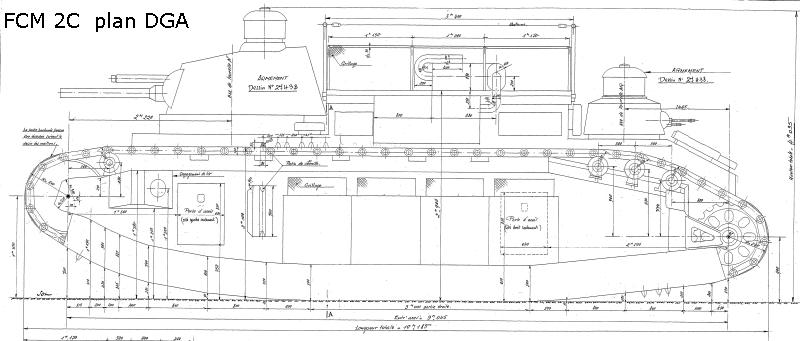 Matériels, armement, bateaux, avions en 1940  Fcm2c_plan_dga_1